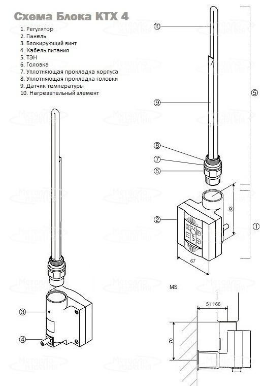 Блок Управления TERMA KTX 4 (хром)