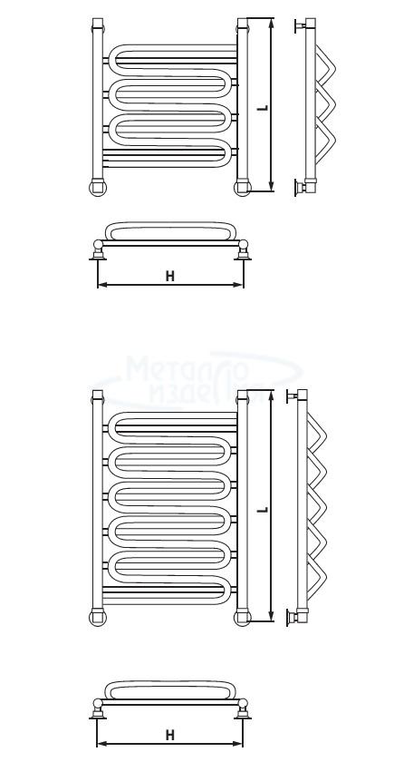 Полотенцесушитель электрический Шторм